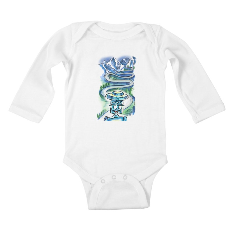 CHIP to the Mountain Kids Baby Longsleeve Bodysuit by thethinkforward's Artist Shop