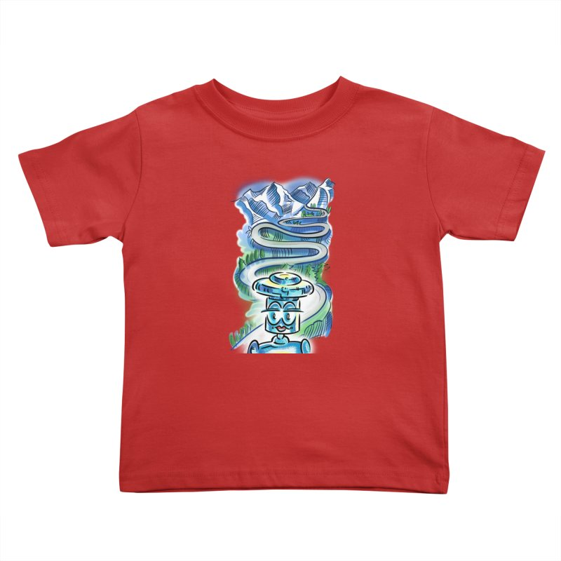 CHIP to the Mountain Kids Toddler T-Shirt by thethinkforward's Artist Shop