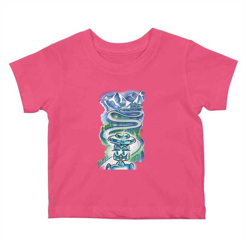 CHIP to the Mountain Kids Baby T-Shirt by thethinkforward's Artist Shop