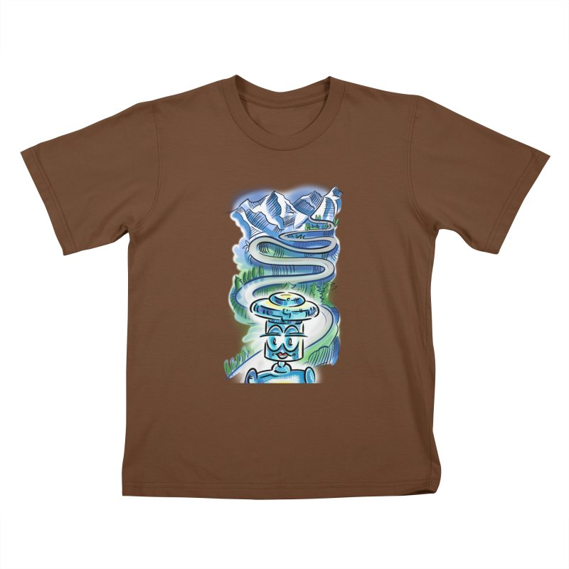 CHIP to the Mountain Kids T-Shirt by thethinkforward's Artist Shop