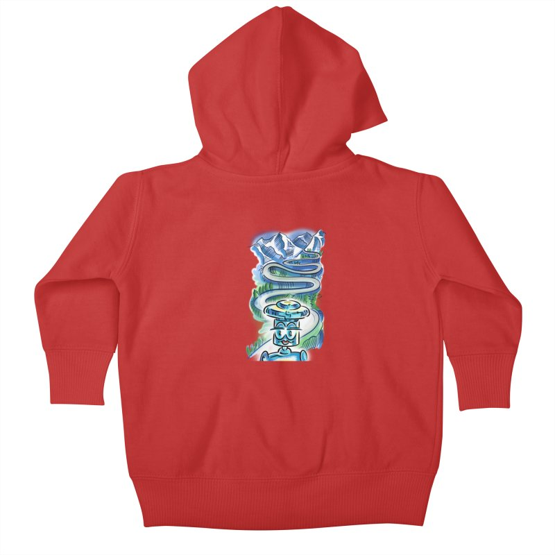 CHIP to the Mountain Kids Baby Zip-Up Hoody by thethinkforward's Artist Shop