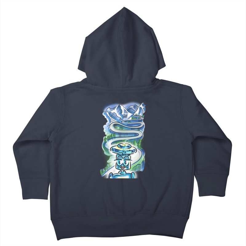 CHIP to the Mountain Kids Toddler Zip-Up Hoody by thethinkforward's Artist Shop
