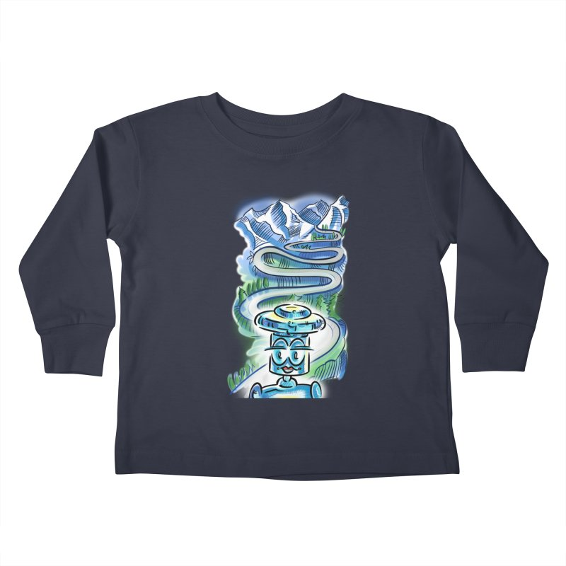 CHIP to the Mountain Kids Toddler Longsleeve T-Shirt by thethinkforward's Artist Shop
