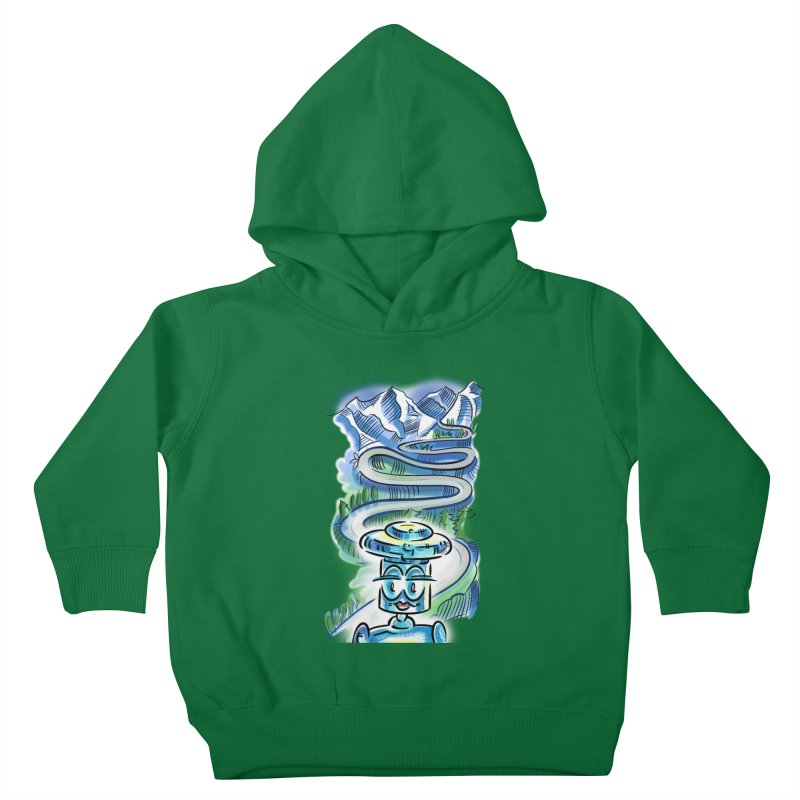 CHIP to the Mountain Kids Toddler Pullover Hoody by thethinkforward's Artist Shop