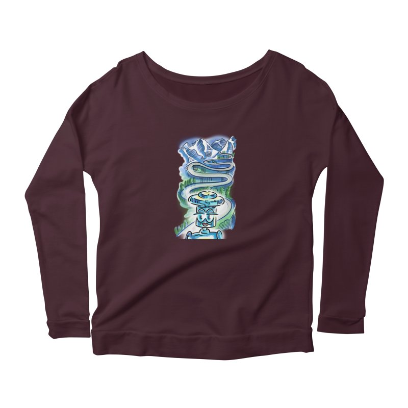 CHIP to the Mountain Women's Longsleeve T-Shirt by thethinkforward's Artist Shop