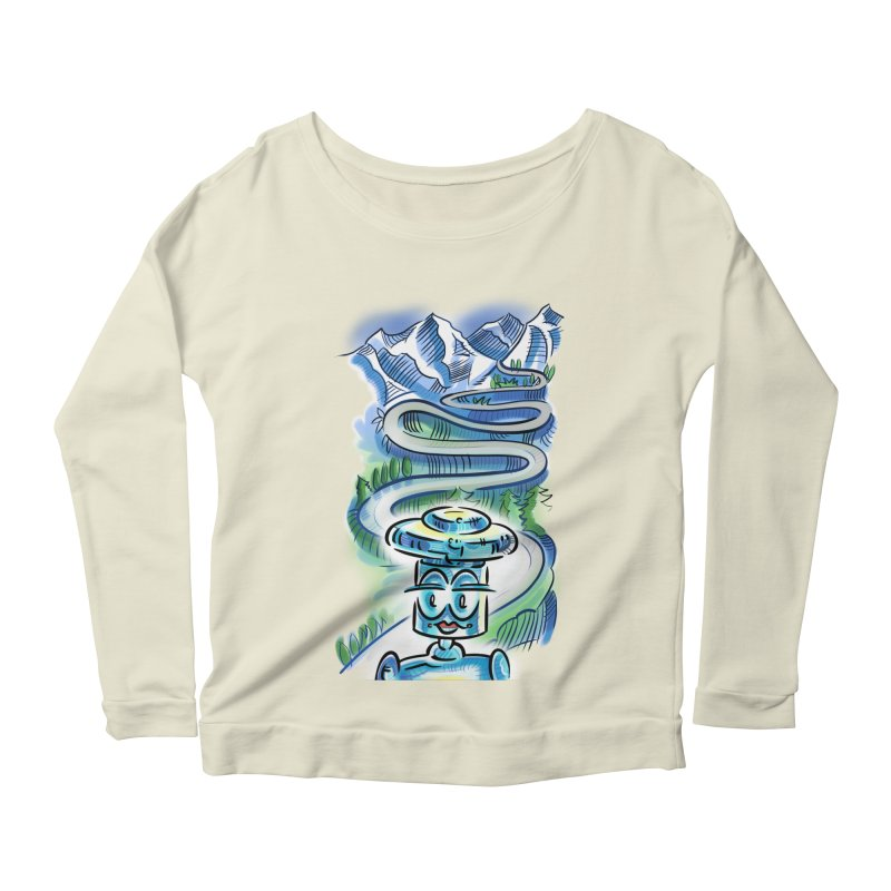 CHIP to the Mountain Women's Scoop Neck Longsleeve T-Shirt by thethinkforward's Artist Shop