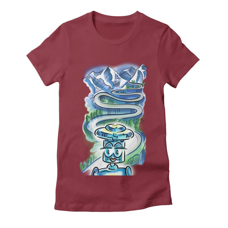 CHIP to the Mountain Women's Fitted T-Shirt by thethinkforward's Artist Shop