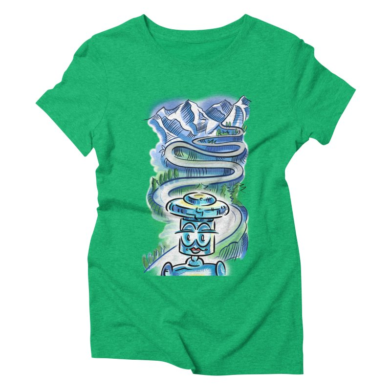 CHIP to the Mountain Women's Triblend T-Shirt by thethinkforward's Artist Shop