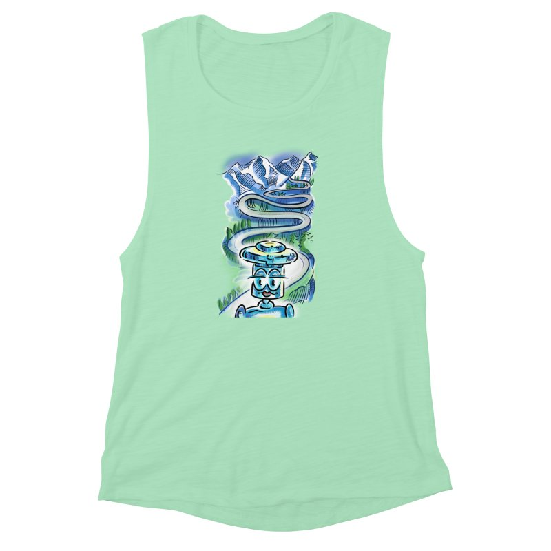 CHIP to the Mountain Women's Muscle Tank by thethinkforward's Artist Shop