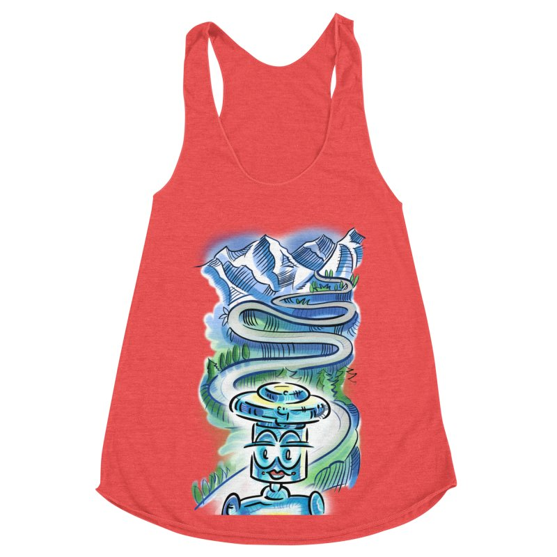 CHIP to the Mountain Women's Racerback Triblend Tank by thethinkforward's Artist Shop