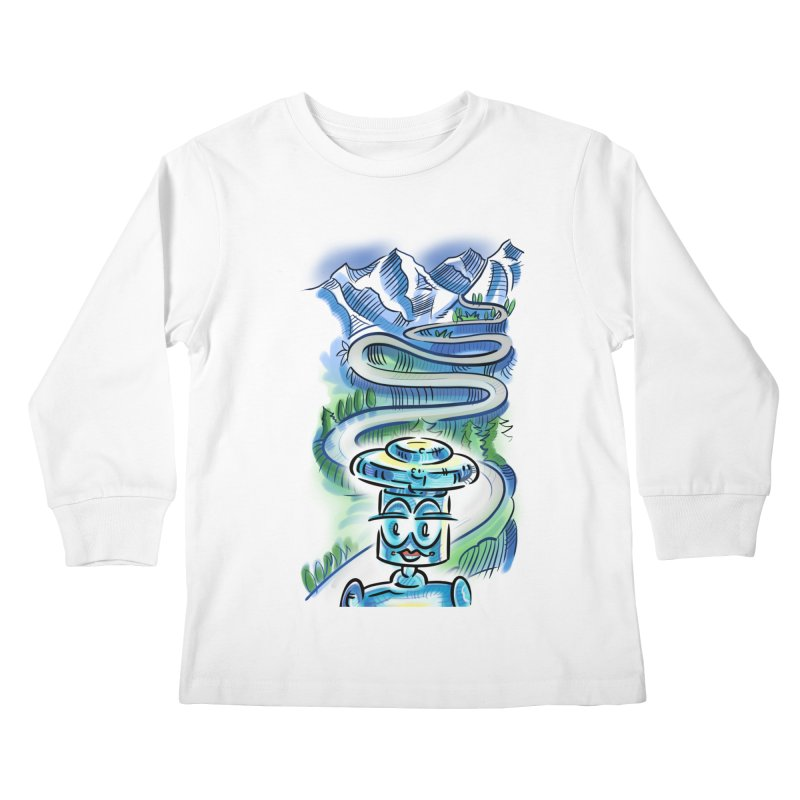 CHIP to the Mountain Kids Longsleeve T-Shirt by thethinkforward's Artist Shop