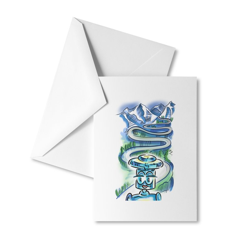 CHIP to the Mountain Accessories Greeting Card by thethinkforward's Artist Shop