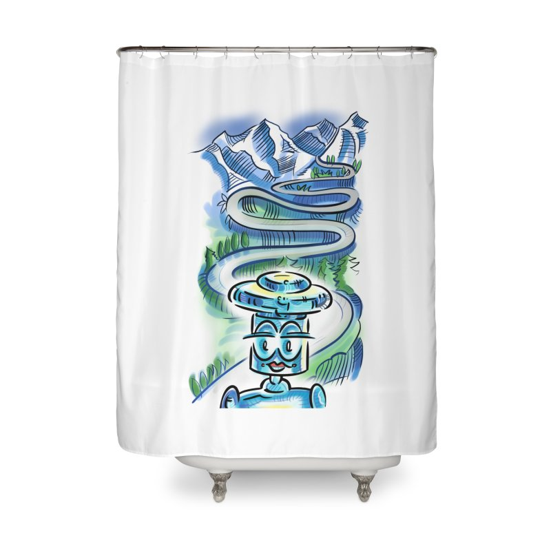 CHIP to the Mountain Home Shower Curtain by thethinkforward's Artist Shop