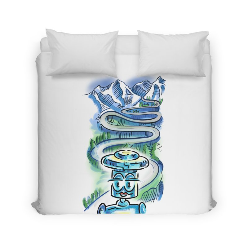 CHIP to the Mountain Home Duvet by thethinkforward's Artist Shop