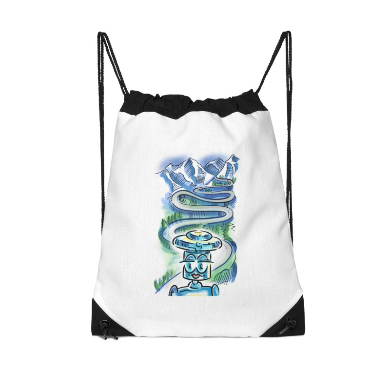 CHIP to the Mountain Accessories Drawstring Bag Bag by thethinkforward's Artist Shop