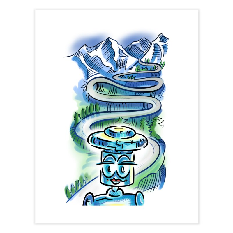 CHIP to the Mountain Home Fine Art Print by thethinkforward's Artist Shop