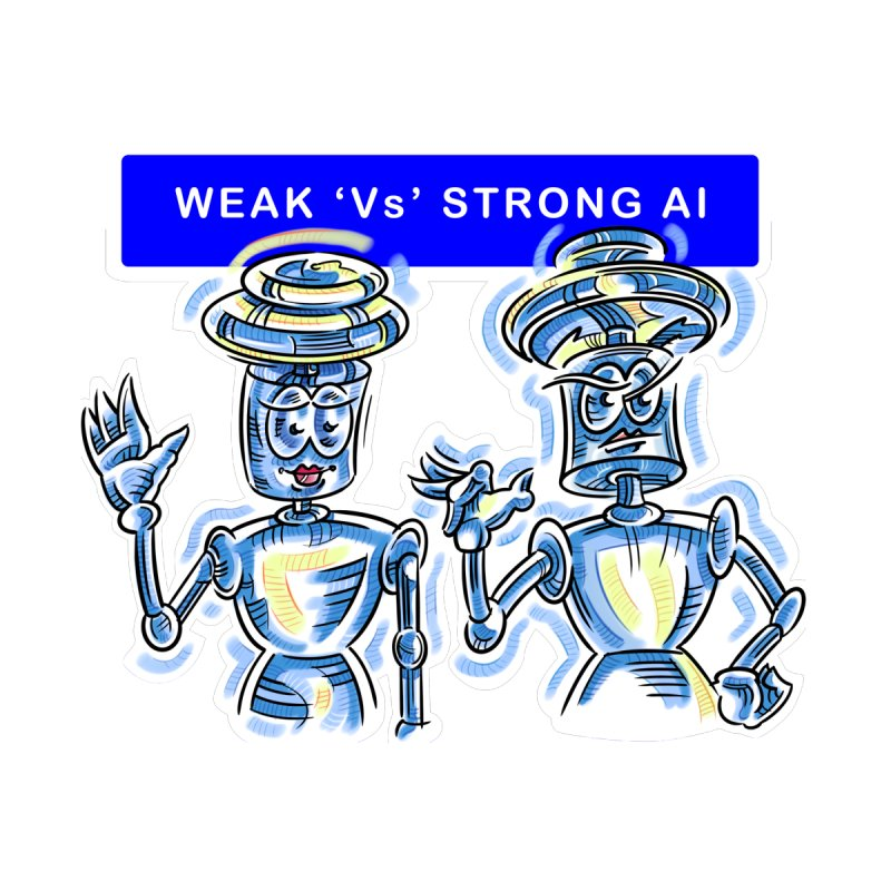 Chip and Chuck Strong AI Accessories Sticker by thethinkforward's Artist Shop