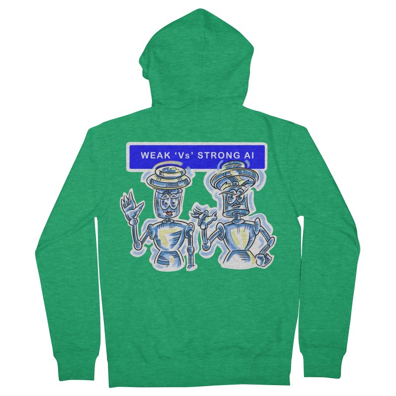 Chip and Chuck Strong AI Women's French Terry Zip-Up Hoody by thethinkforward's Artist Shop