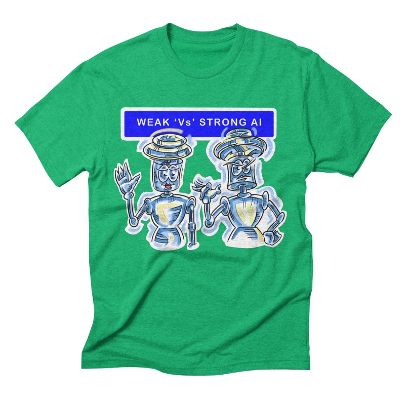 Chip and Chuck Strong AI Men's Triblend T-Shirt by thethinkforward's Artist Shop