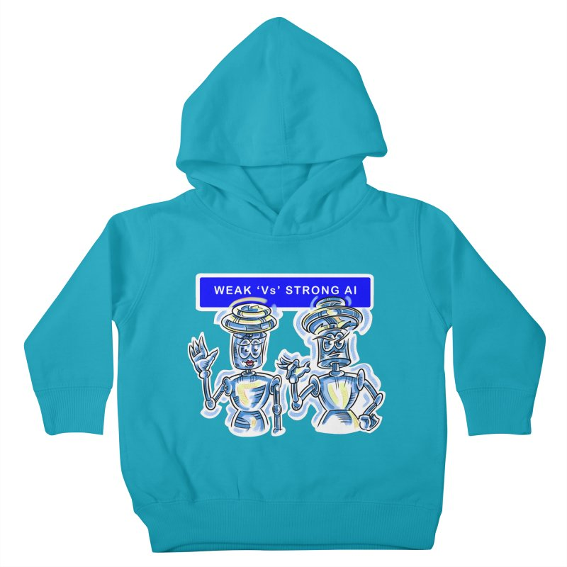 Chip and Chuck Strong AI Kids Toddler Pullover Hoody by thethinkforward's Artist Shop