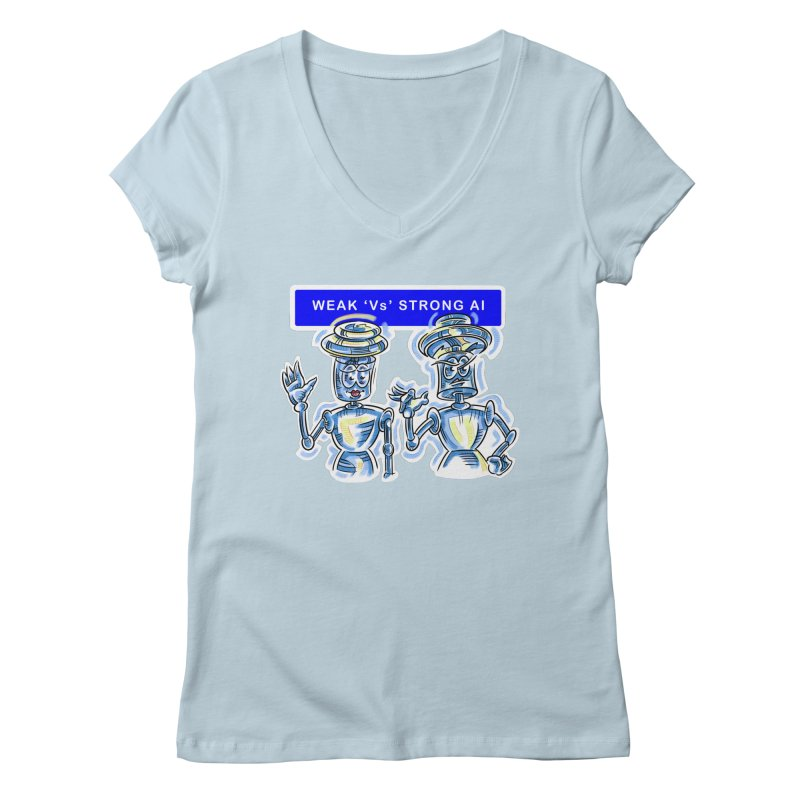 Chip and Chuck Strong AI Women's Regular V-Neck by thethinkforward's Artist Shop
