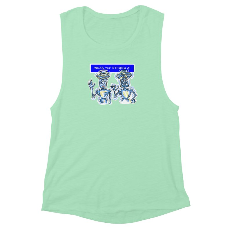 Chip and Chuck Strong AI Women's Muscle Tank by thethinkforward's Artist Shop