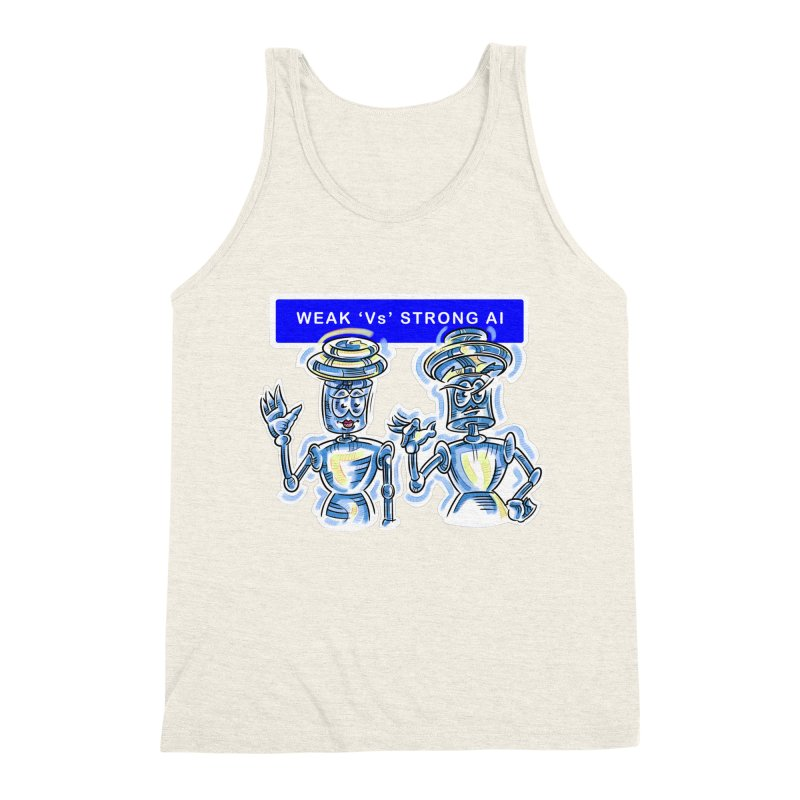 Chip and Chuck Strong AI Men's Triblend Tank by thethinkforward's Artist Shop