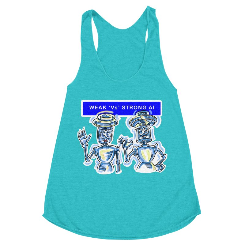 Chip and Chuck Strong AI Women's Racerback Triblend Tank by thethinkforward's Artist Shop