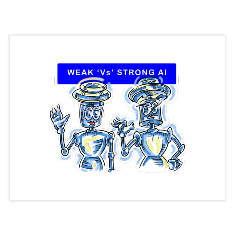Chip and Chuck Strong AI Home Fine Art Print by thethinkforward's Artist Shop