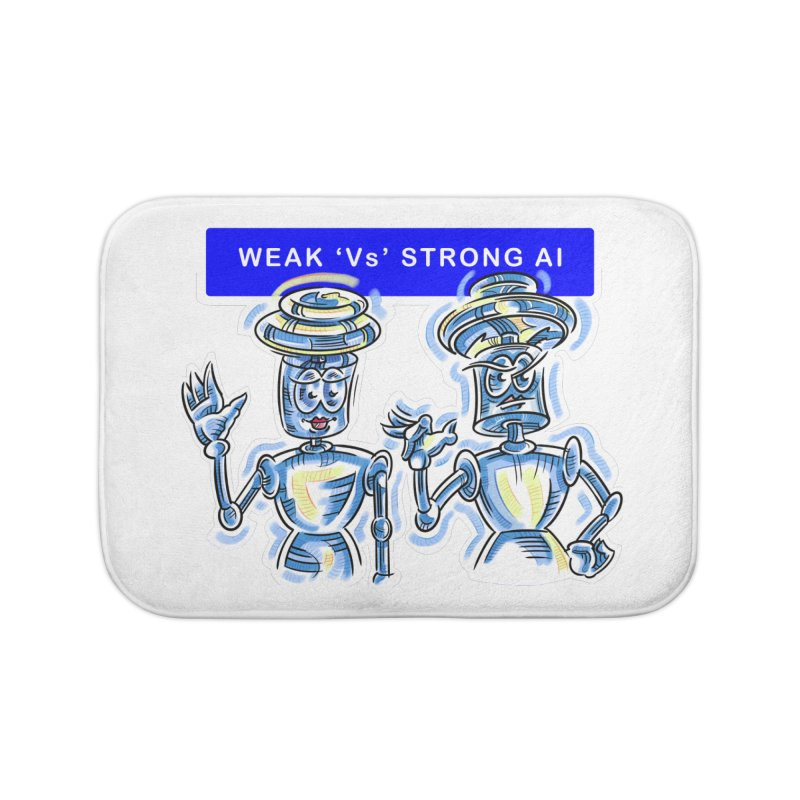 Chip and Chuck Strong AI Home Bath Mat by thethinkforward's Artist Shop