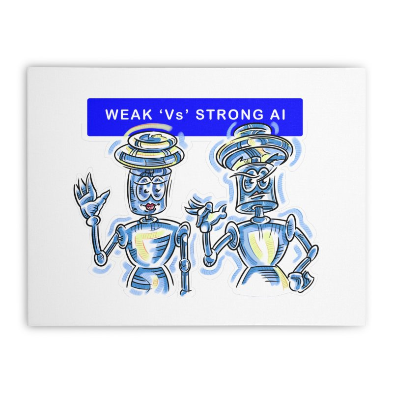 Chip and Chuck Strong AI Home Stretched Canvas by thethinkforward's Artist Shop