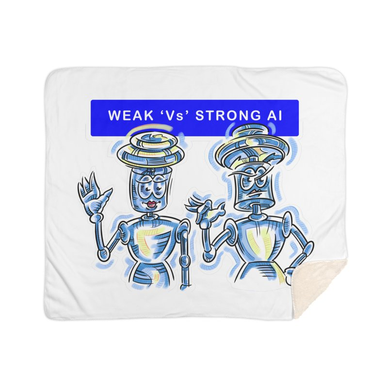 Chip and Chuck Strong AI Home Sherpa Blanket Blanket by thethinkforward's Artist Shop