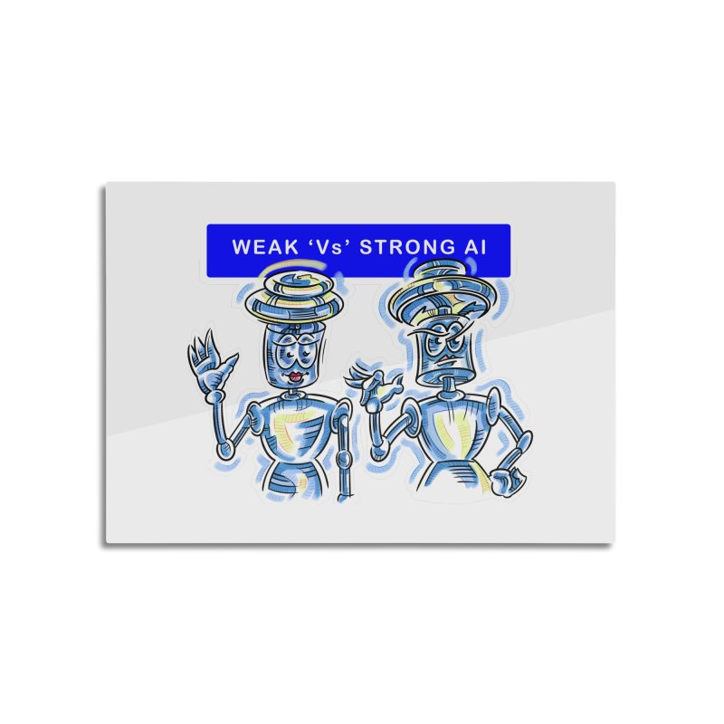 Chip and Chuck Strong AI Home Mounted Aluminum Print by thethinkforward's Artist Shop