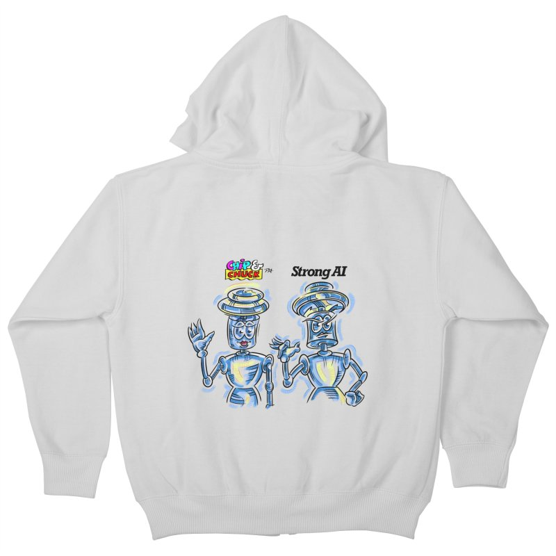Chip and Chuck Strong AI Kids Zip-Up Hoody by thethinkforward's Artist Shop