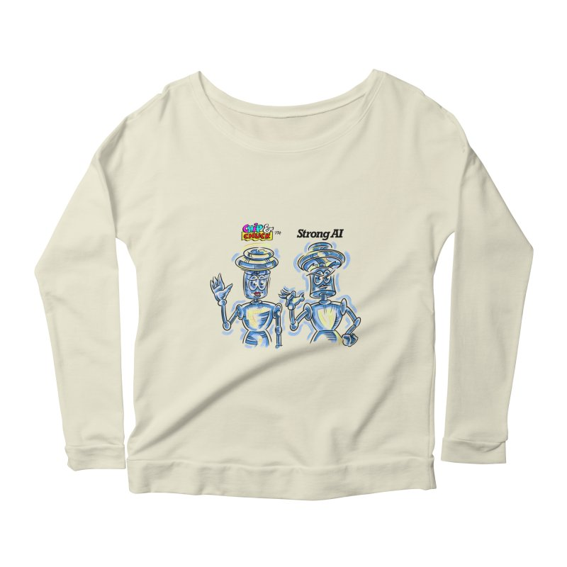 Chip and Chuck Strong AI Women's Scoop Neck Longsleeve T-Shirt by thethinkforward's Artist Shop