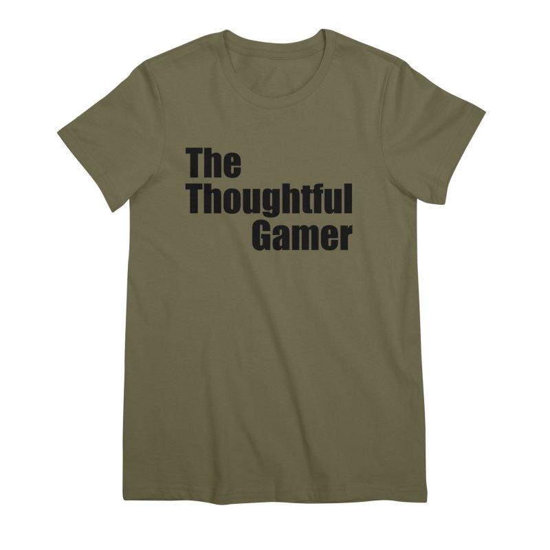 TTG Simple Bold Black Women's Premium T-Shirt by thethoughtfulgamer's Artist Shop