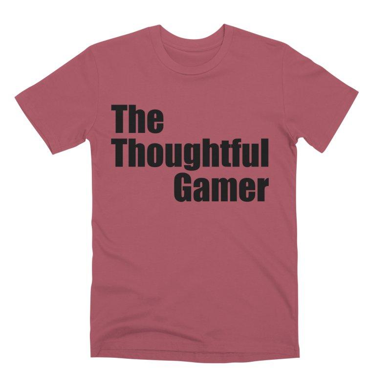 TTG Simple Bold Black Men's Premium T-Shirt by thethoughtfulgamer's Artist Shop