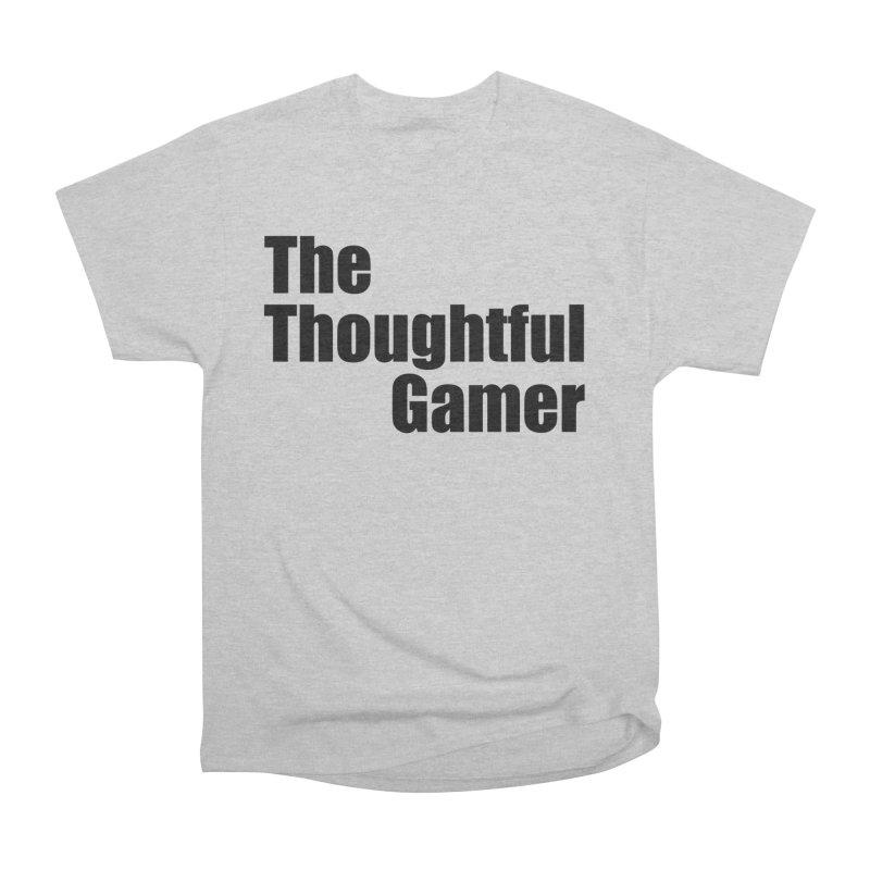 TTG Simple Bold Black Men's Heavyweight T-Shirt by thethoughtfulgamer's Artist Shop
