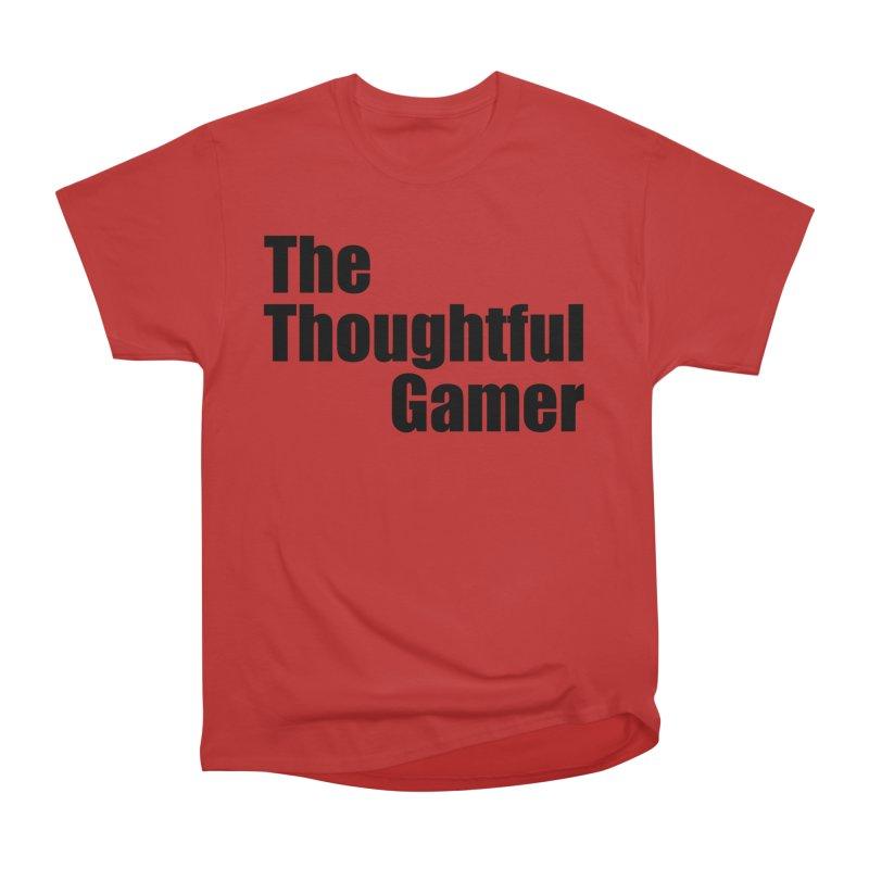 TTG Simple Bold Black Women's Heavyweight Unisex T-Shirt by thethoughtfulgamer's Artist Shop