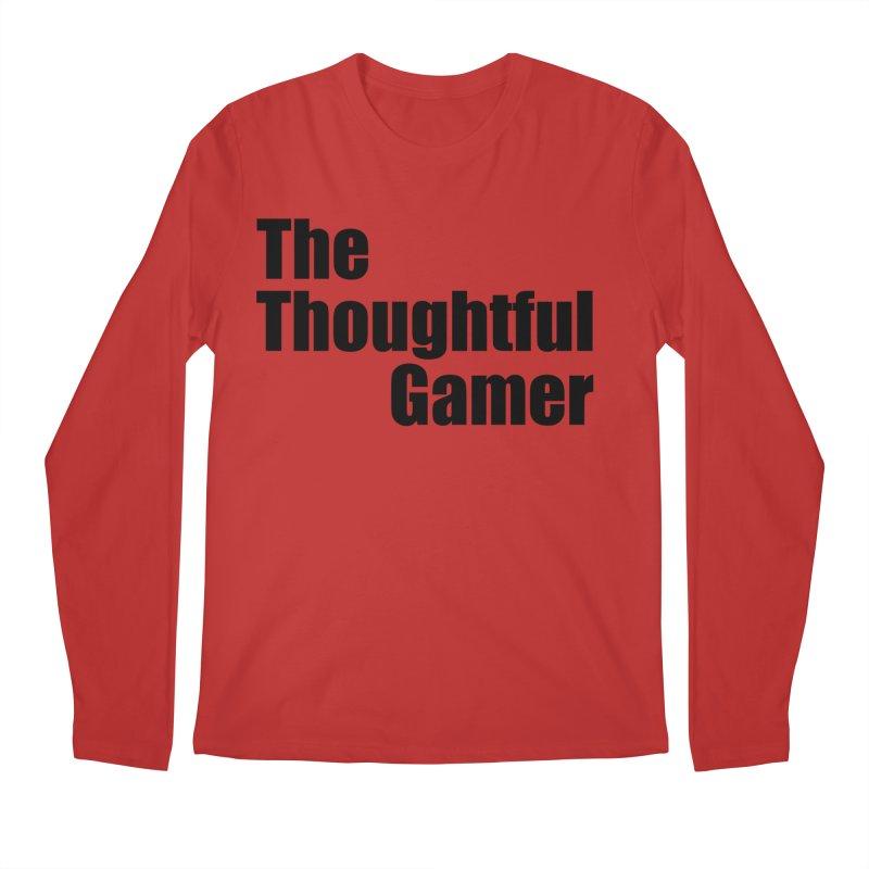 TTG Simple Bold Black Men's Regular Longsleeve T-Shirt by thethoughtfulgamer's Artist Shop