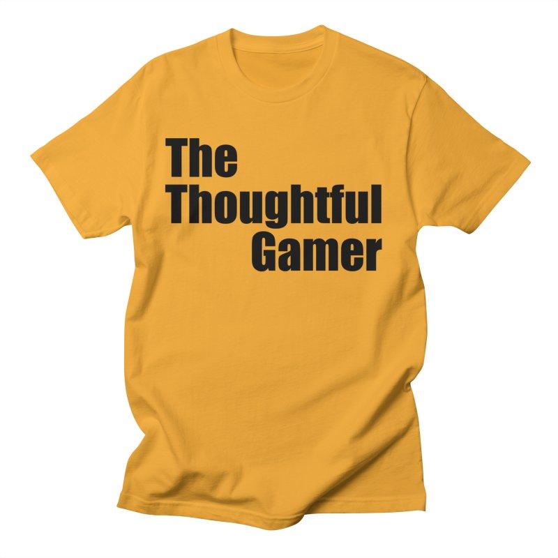 TTG Simple Bold Black Men's Regular T-Shirt by thethoughtfulgamer's Artist Shop