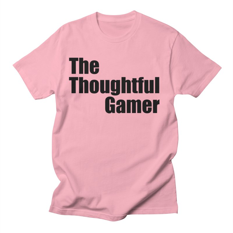 TTG Simple Bold Black Women's Regular Unisex T-Shirt by thethoughtfulgamer's Artist Shop