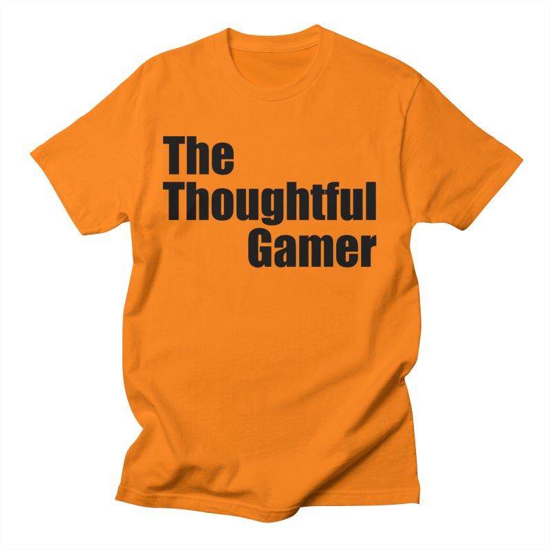 TTG Simple Bold Black Women's Regular Unisex T-Shirt by thethoughtfulgamer's Artist Shop
