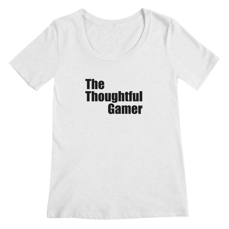 TTG Simple Bold Black Women's Regular Scoop Neck by thethoughtfulgamer's Artist Shop