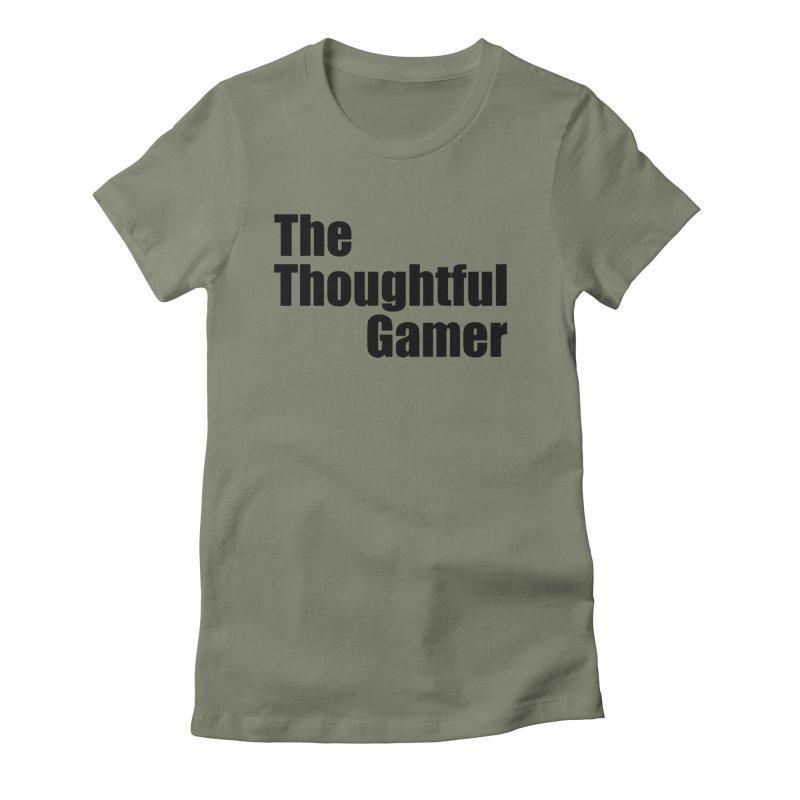 TTG Simple Bold Black Women's Fitted T-Shirt by thethoughtfulgamer's Artist Shop