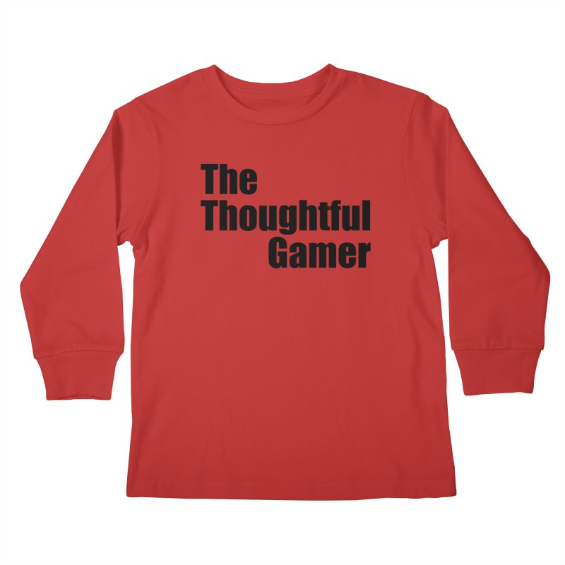 TTG Simple Bold Black Kids Longsleeve T-Shirt by thethoughtfulgamer's Artist Shop