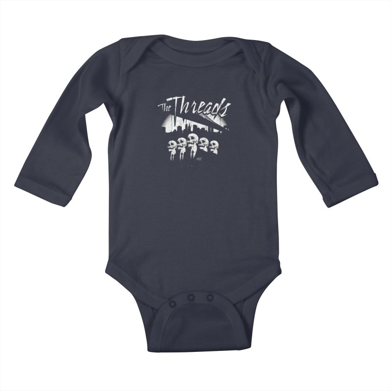Skeletons in the City Kids Baby Longsleeve Bodysuit by THE THREADS NYC's Artist Shop