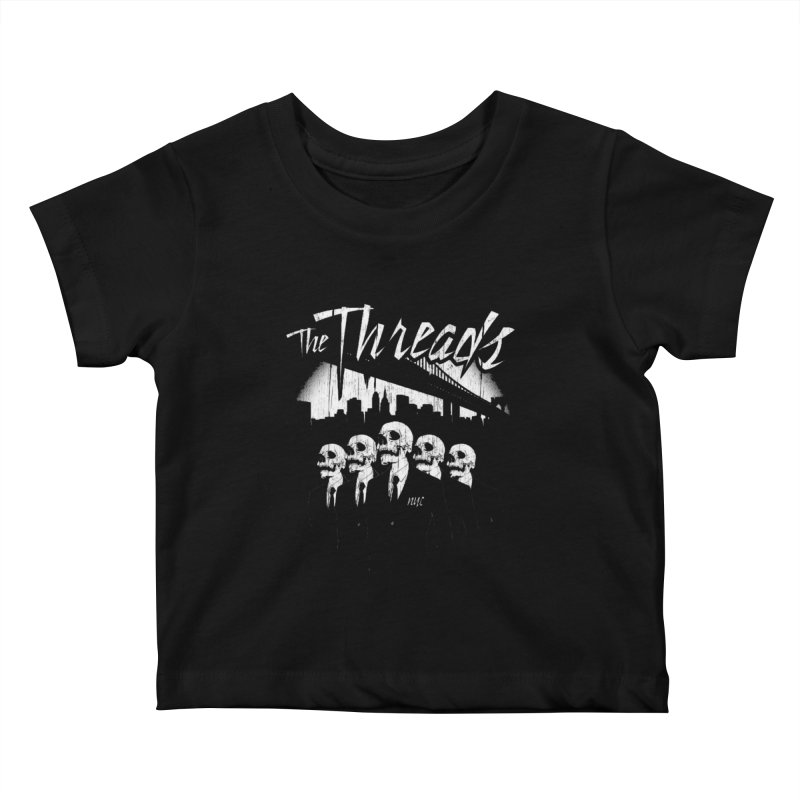 Skeletons in the City Kids Baby T-Shirt by THE THREADS NYC's Artist Shop