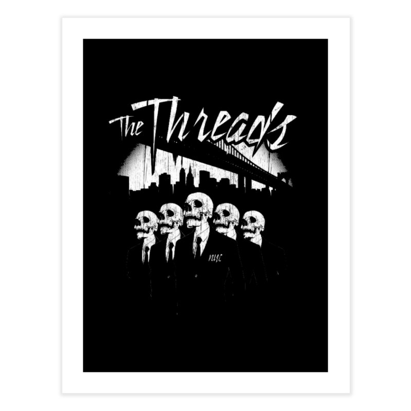 Skeletons in the City Home Fine Art Print by THE THREADS NYC's Artist Shop