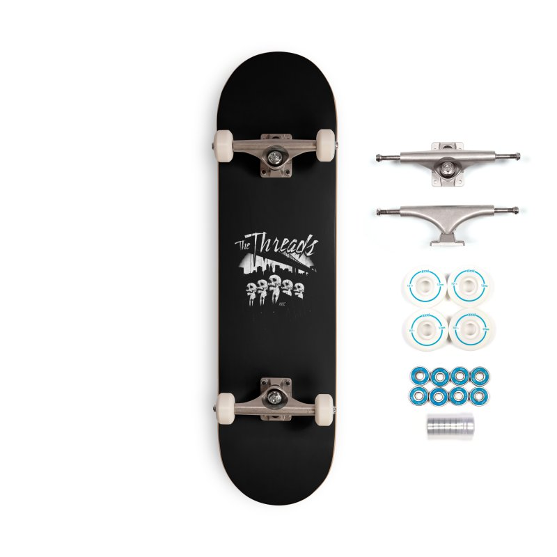 Skeletons in the City Accessories Skateboard by THE THREADS NYC's Artist Shop
